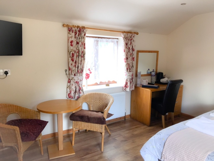 Our largest ensuite room has plenty of light and is great for a weekend stay